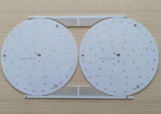China Single layer Aluminum Base LED Light PCB Board HASL LF White Soldmask Supplier