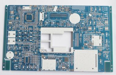 China Blue Soldmask Electronic Printed Circuit Board 1.6mm Thickness HASL LF Surface Supplier