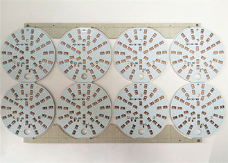 China Durable LED Light PCB Board White Soldermask Aluminium With ENIG / HASL Surface Supplier