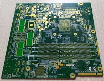 China Green Soldmask Custom Printed Circuit Board 10 Layers FR-4 1.6mm 2OZ Copper Thickness Supplier