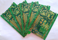 "China 10 layers Multilayer PCB Board immersion gold ENIG 1u"" with green soldmask white silkscreen Providers"