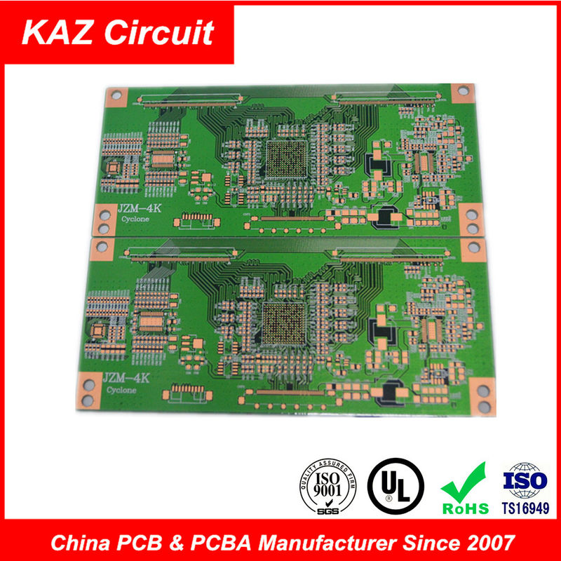 professional 6 layers 1 6mm fr4 1oz tg150 osp green pcb board for