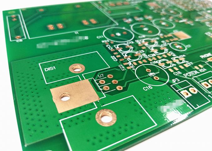 ISO FR4 Multilayer PCB Board Green Soldermask White Silkscreen ENIG / HASL Surface
