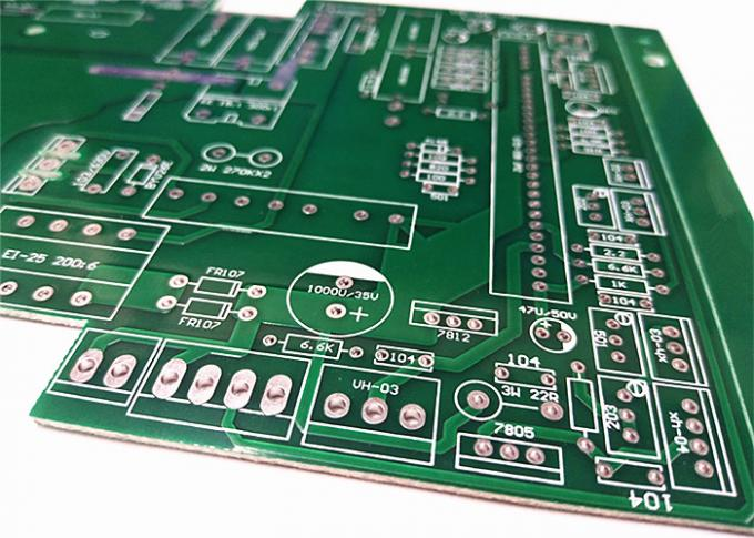 High Precision Prototype Printed Circuit Board Green Soldermask FR4 12OZ Copper
