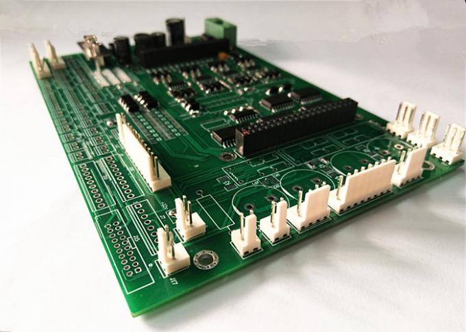 Green Soldermask FR4 Printed Circuit Board , PCB Prototype Assembly 12OZ Copper