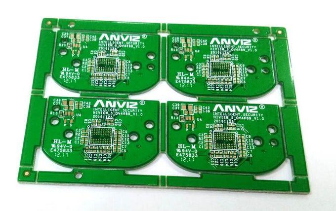 4 Layers 1OZ FR4 Green Soldermask CCTV Camera PCB  With ROHS REACH UL