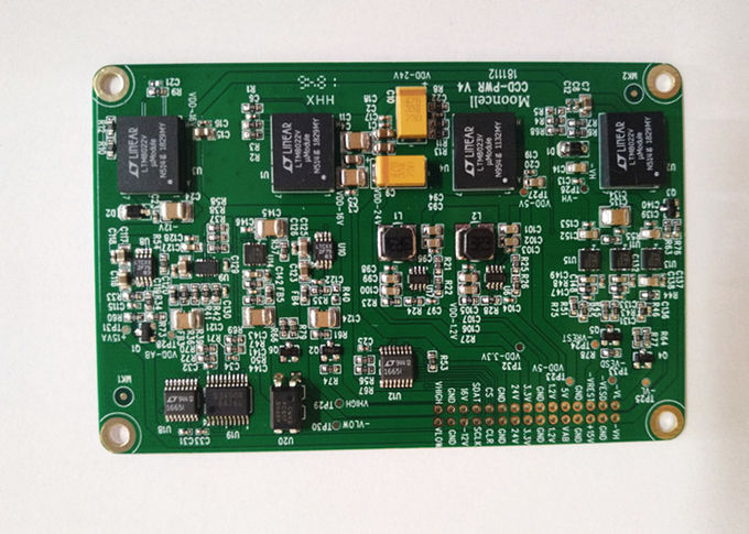 Lead Free Printed Circuit Board Assembly 4 Layers 1OZ White Silkscreen ISO Approval